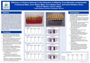 Extraction_Presentation_Poster_aflatoxin